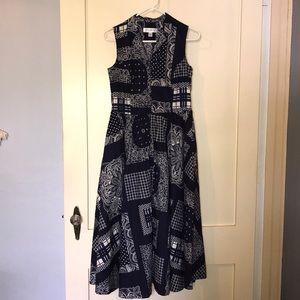 Isaac Mizrahi Full Button Down Pocketed Dress